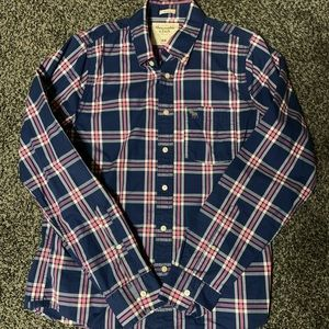 Abercrombie & Fitch Blue/Pink Plaid Shirt